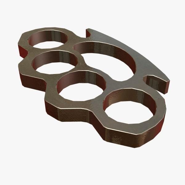 brass knuckles 3d model
