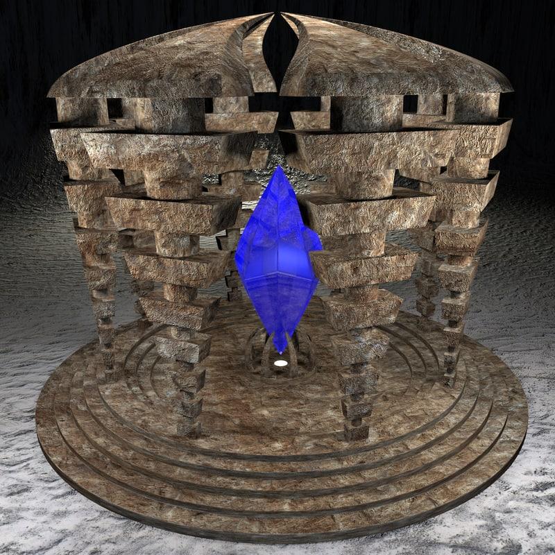 3d temple crystall