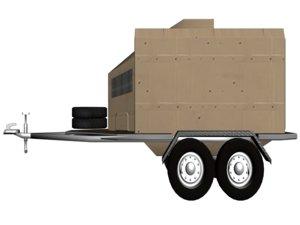 3ds max trailer module military