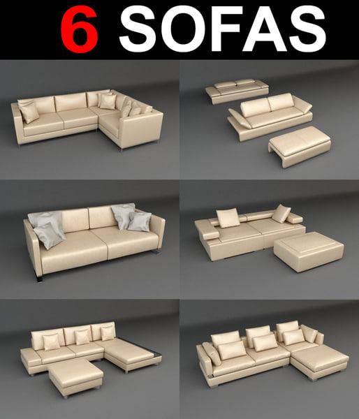 6 sofa 3d model