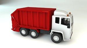 3d model bin wagon refuse truck