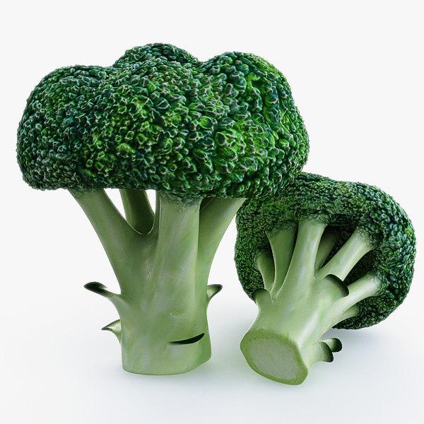 broccoli use 3d model