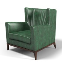 3d cole wing armchair model