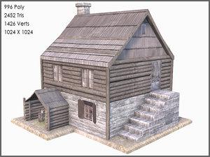 max colonial log house