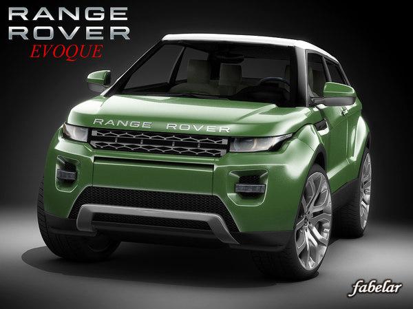 3d range rover evoque