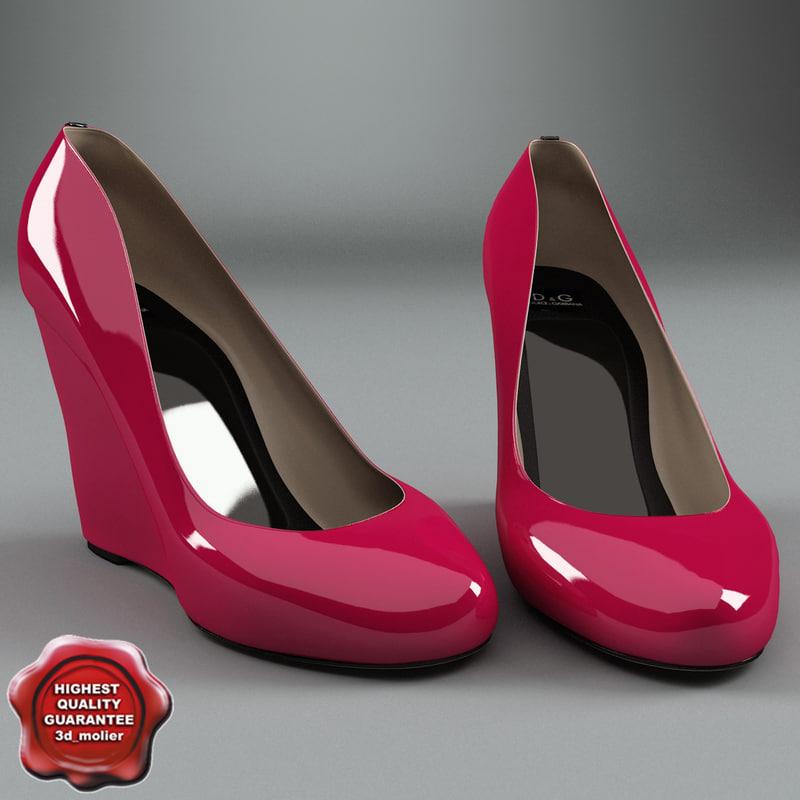 female shoes d g 3d lwo