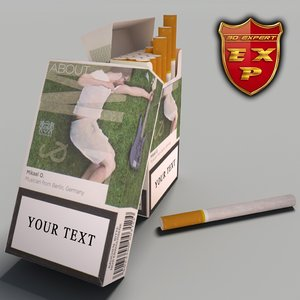 3d model lm pack cigarettes