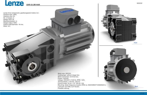 3d model lenze gkr har 063c02