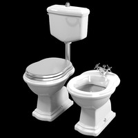 3d model of lineatre lady toilet