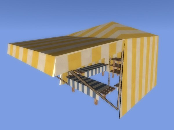 3ds max market stand