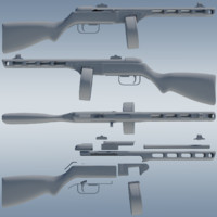 PPSH-41 high detail model