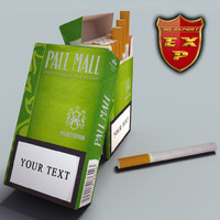 pall mall pocket cigarette pack 3d model