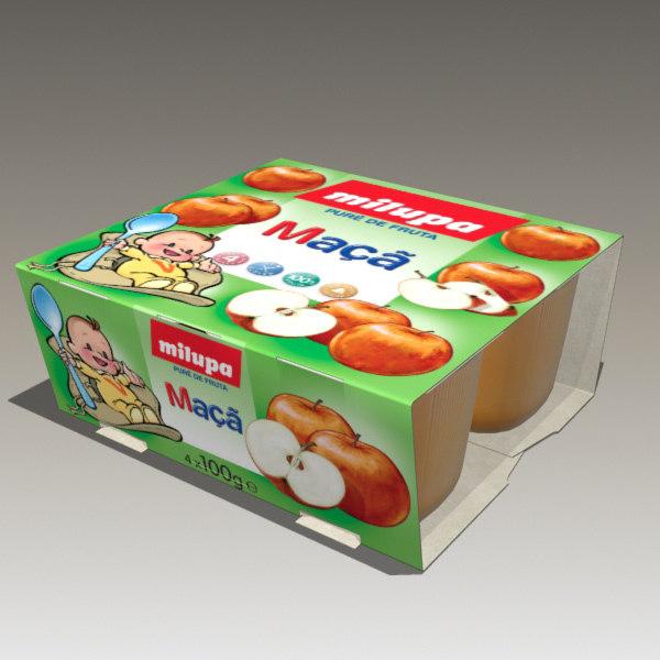 3d apple baby food