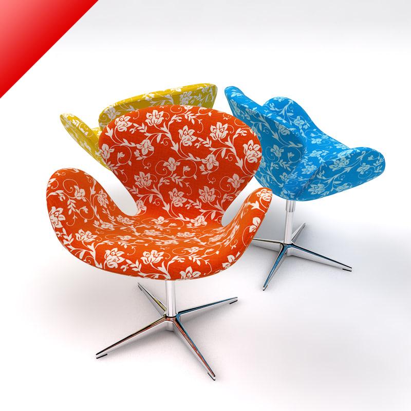 swan chair 3ds