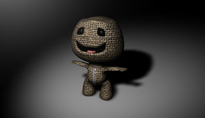 free sackboy little big 3d model