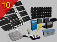 3d solar panels inverter cell