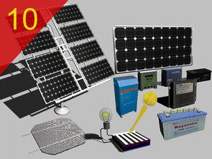 3d solar panels inverter cell