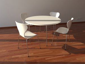 table chair contemporary 3d model