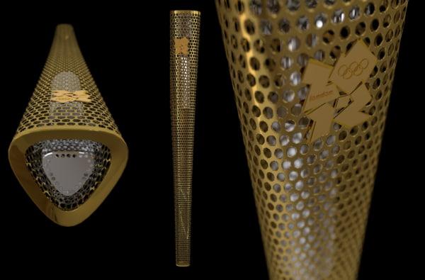 3d london 2012 olympic torch model