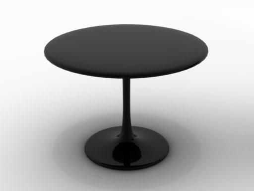 Tulip table 3d model for Table design 3d model