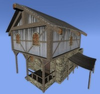 3ds medieval building