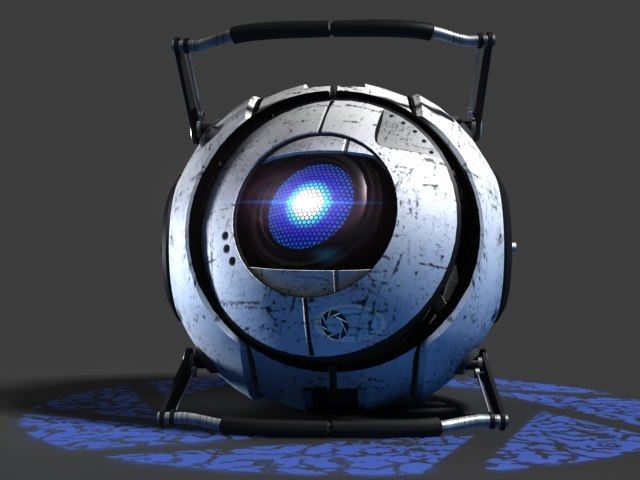 wheatley video character robot 3d max