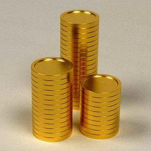 3ds max cartoon money gold coins
