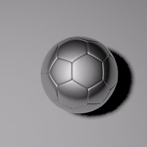 3d steel soccer ball