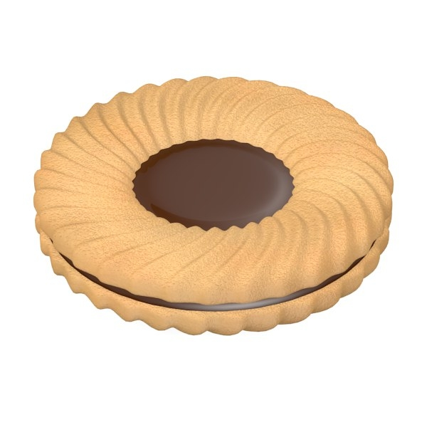 biscuit filled 3d model