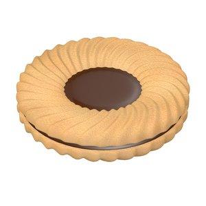 biscuit filled 3d model