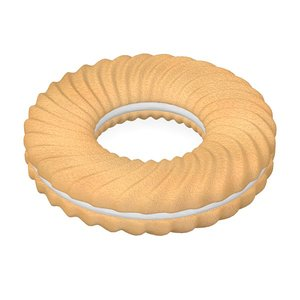 3d biscuit filled