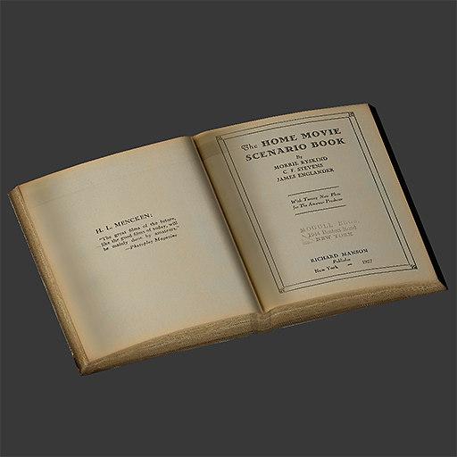 ancient book 3d max