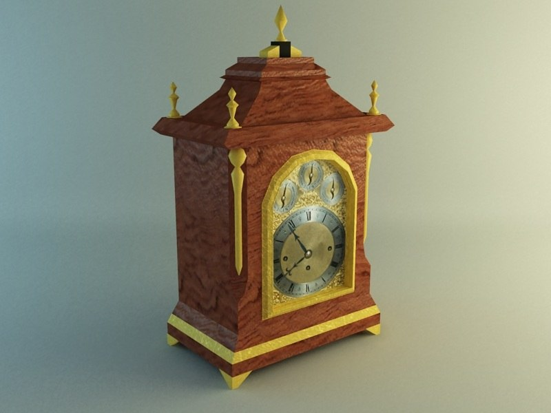 3d georgian mantel clock