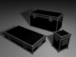 3d flight cases model