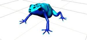 blue dart frog obj