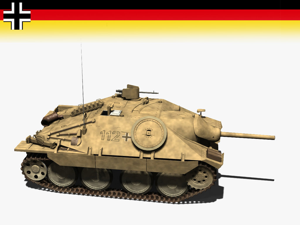hetzer tank destroyer t 3d model
