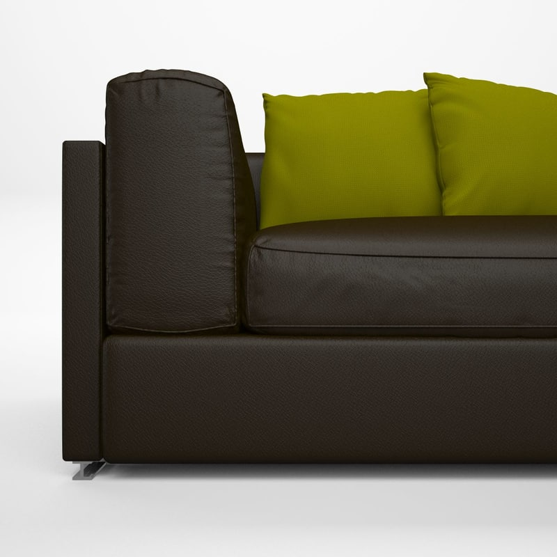 3d alison leather couch
