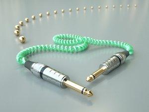 3d 1 jack cable model