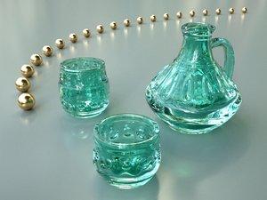 maya jug drinking glasses