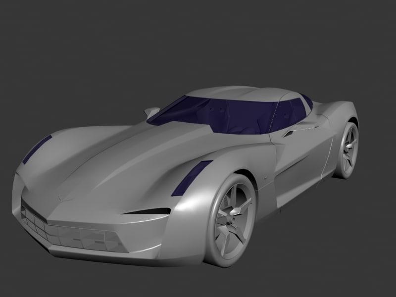 chevrolet stingray 3d model
