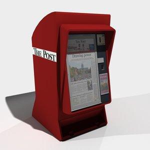 newspaper vending 3d max