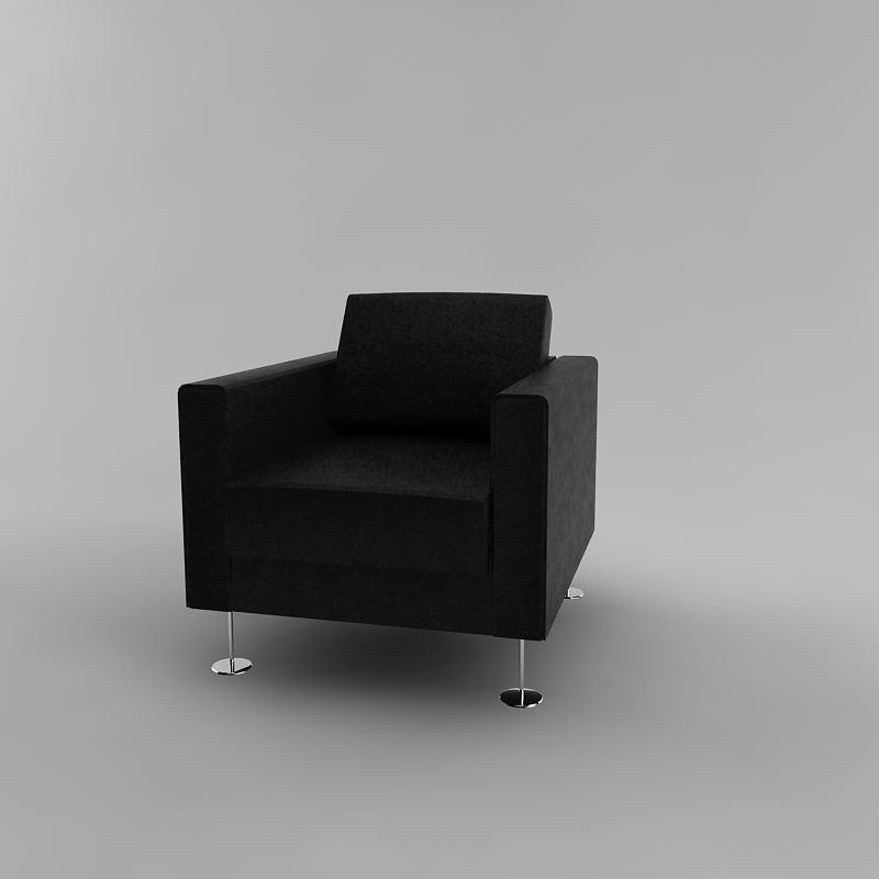 vitra park armchair 3ds