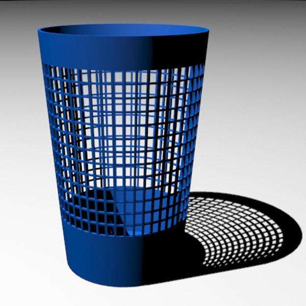 paper waste basket 3d model