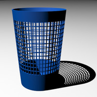 paper waste basket 3d model