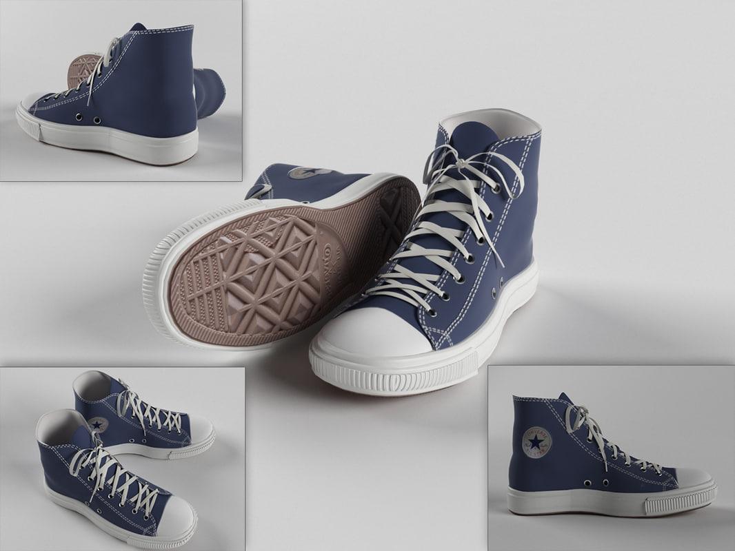 3d model plimsoll shoe
