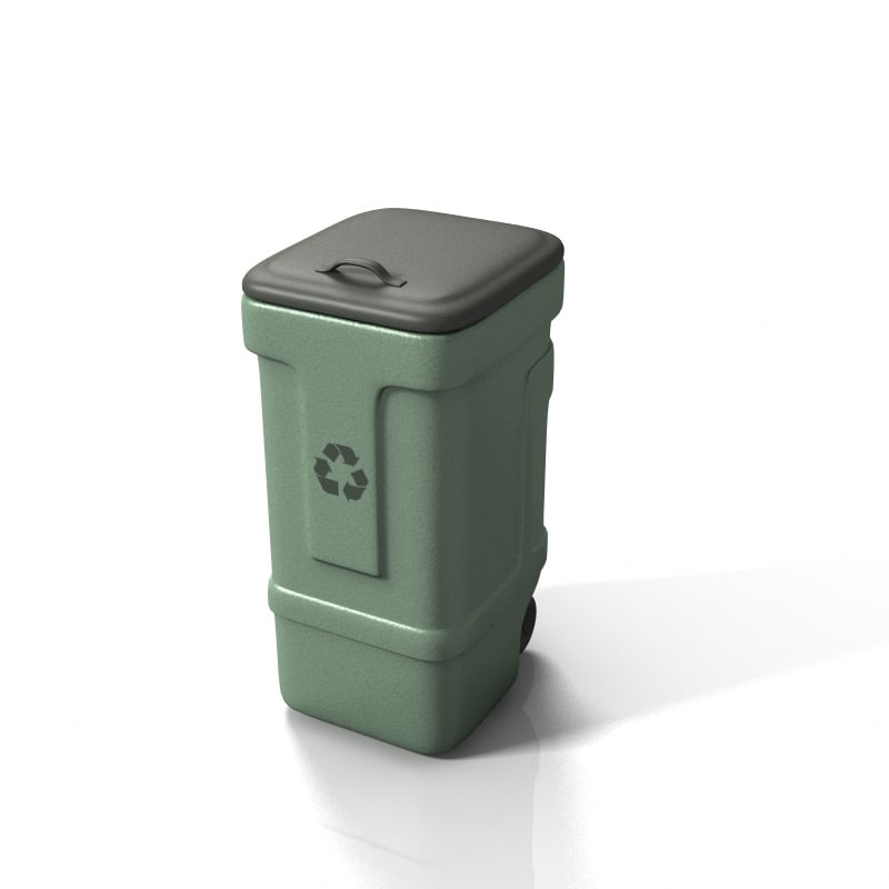 3ds max plastic garbage container