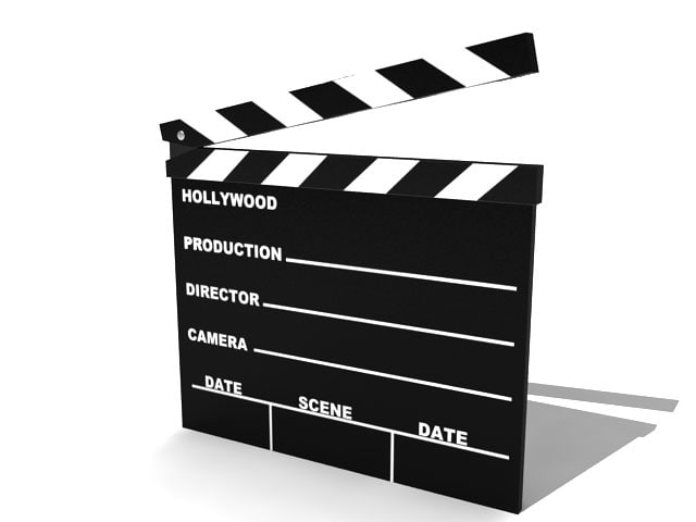 3d model hollywood scene clap