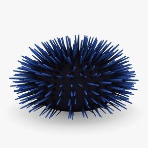 sea urchin 3d obj