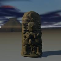 ancient statue obj