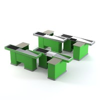 supermarket cash table 3d model